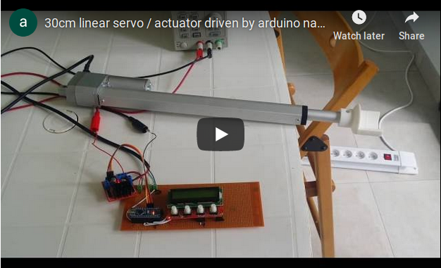 Prime 30Cm Linear Servo Actuator Driven By Arduino Nano H Bridge Ch Wiring Database Gramgelartorg